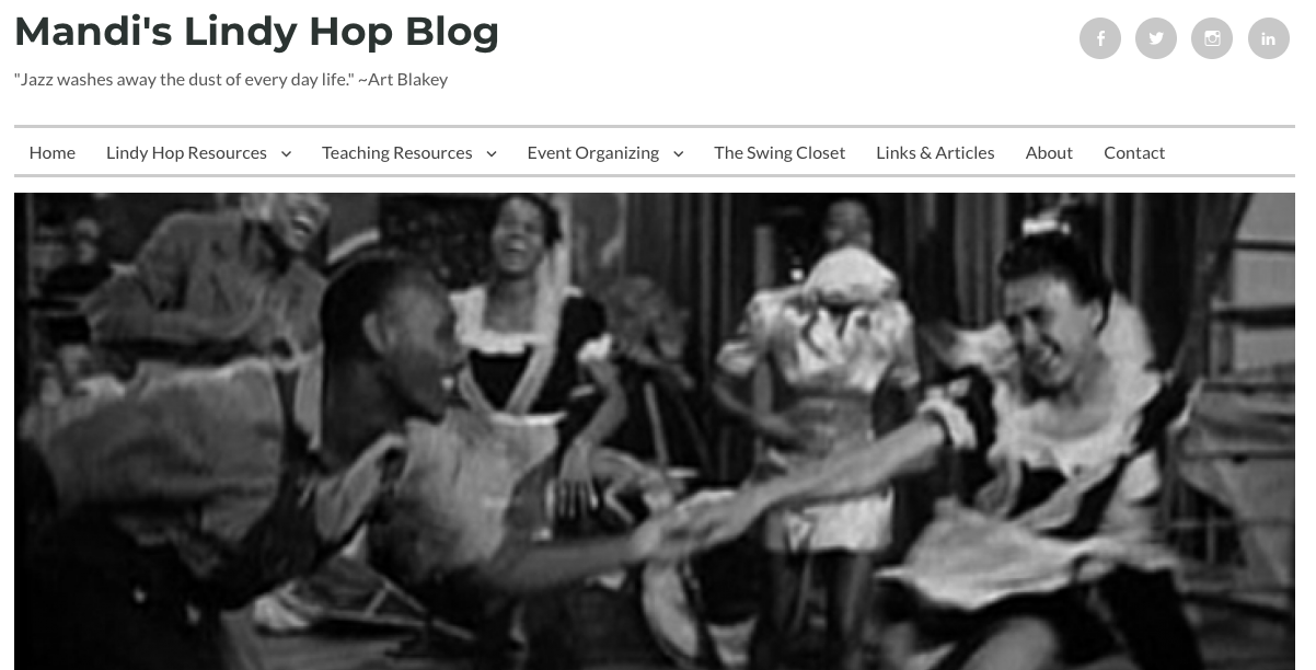 Mandi's Lindy Hop Blog